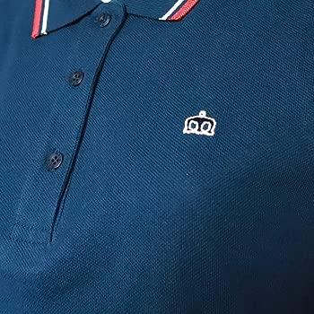 Merc London - Polo para Mujer con Cuello en Punta - Azul - Medium ...