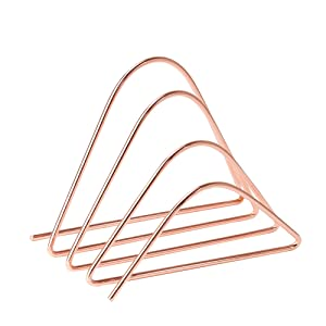 U Brands Desktop Letter Sorter, Wire Metal, Copper/Rose Gold