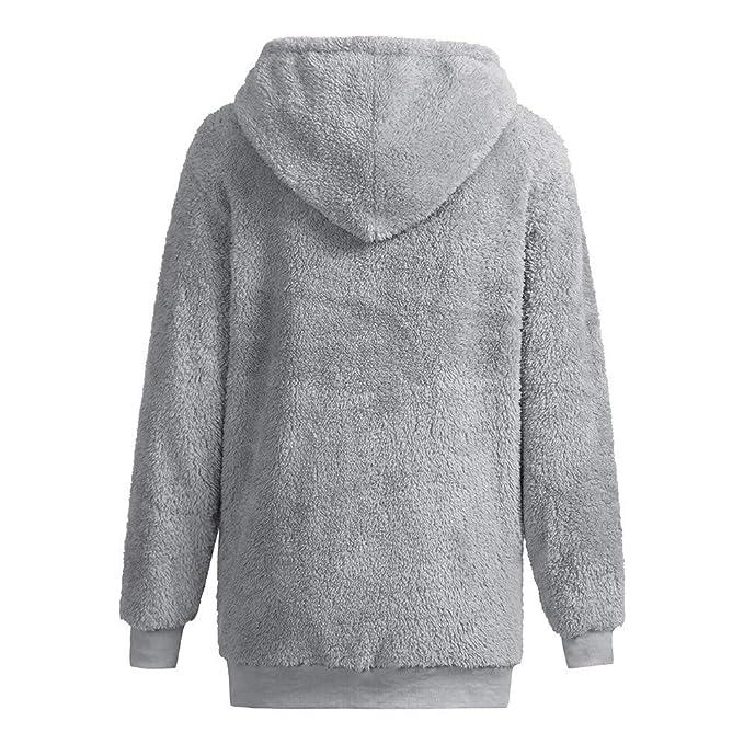 Amazon.com: AOJIAN Women Jacket Long Sleeve Outwear Warm Hooded Drawstring with Big Pocket Casual Soft Solid Coat: Clothing