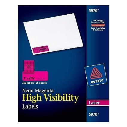 Avery 5970 etiqueta de impresora Magenta Etiqueta para impresora ...