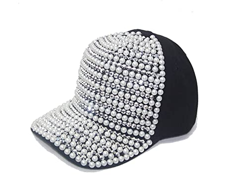 icy hats baseball caps with bling pearls spikes black beige hat uk mom