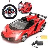 MousePotato 1:16 Scale Lamborghini Style Sports Racing Car, Red
