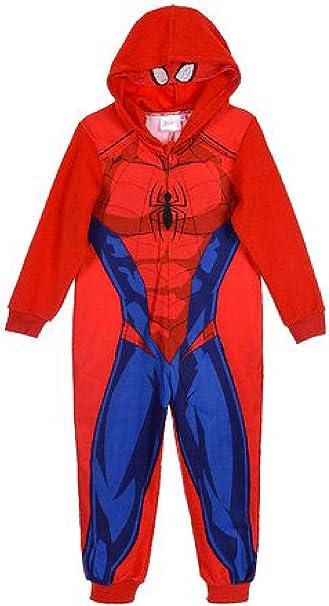 Pijama de Spiderman, Talla 3 4 6 8 cálido Invierno 2020 Rojo 8 ...