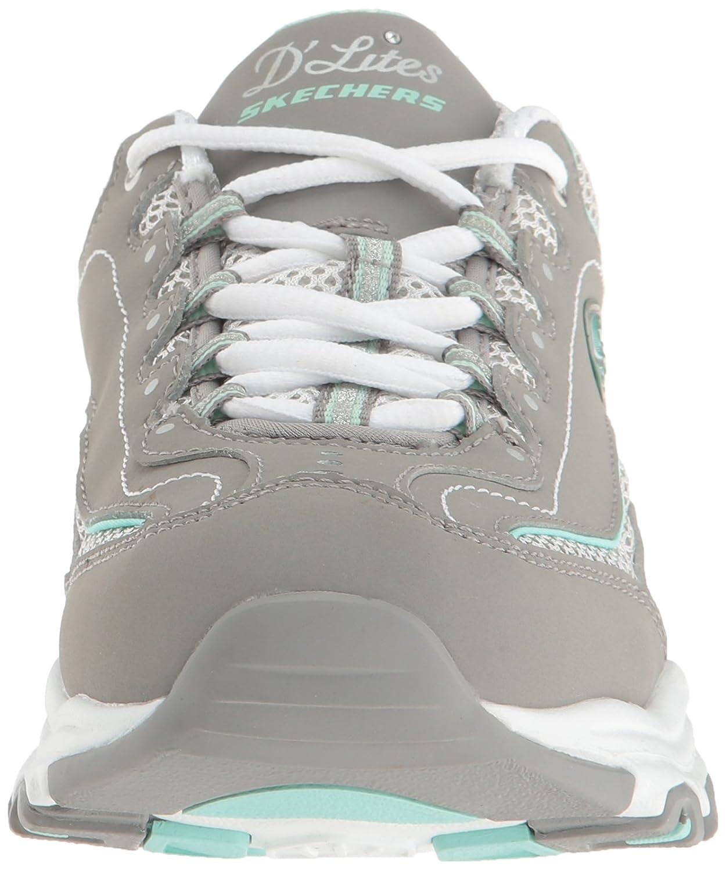 Skechers Damen Sneaker D´Lites BIGGEST FAN Grau (Gray/Weiß Saver) Life Saver) (Gray/Weiß 022408