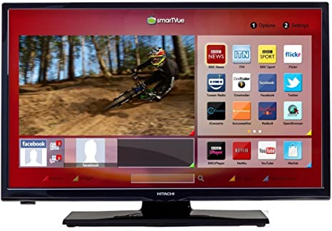 Hitachi 32HYJ46U 32 Inch Full HD 1080p Smart TV/DVD Combi, [Importado de UK]: Amazon.es: Electrónica
