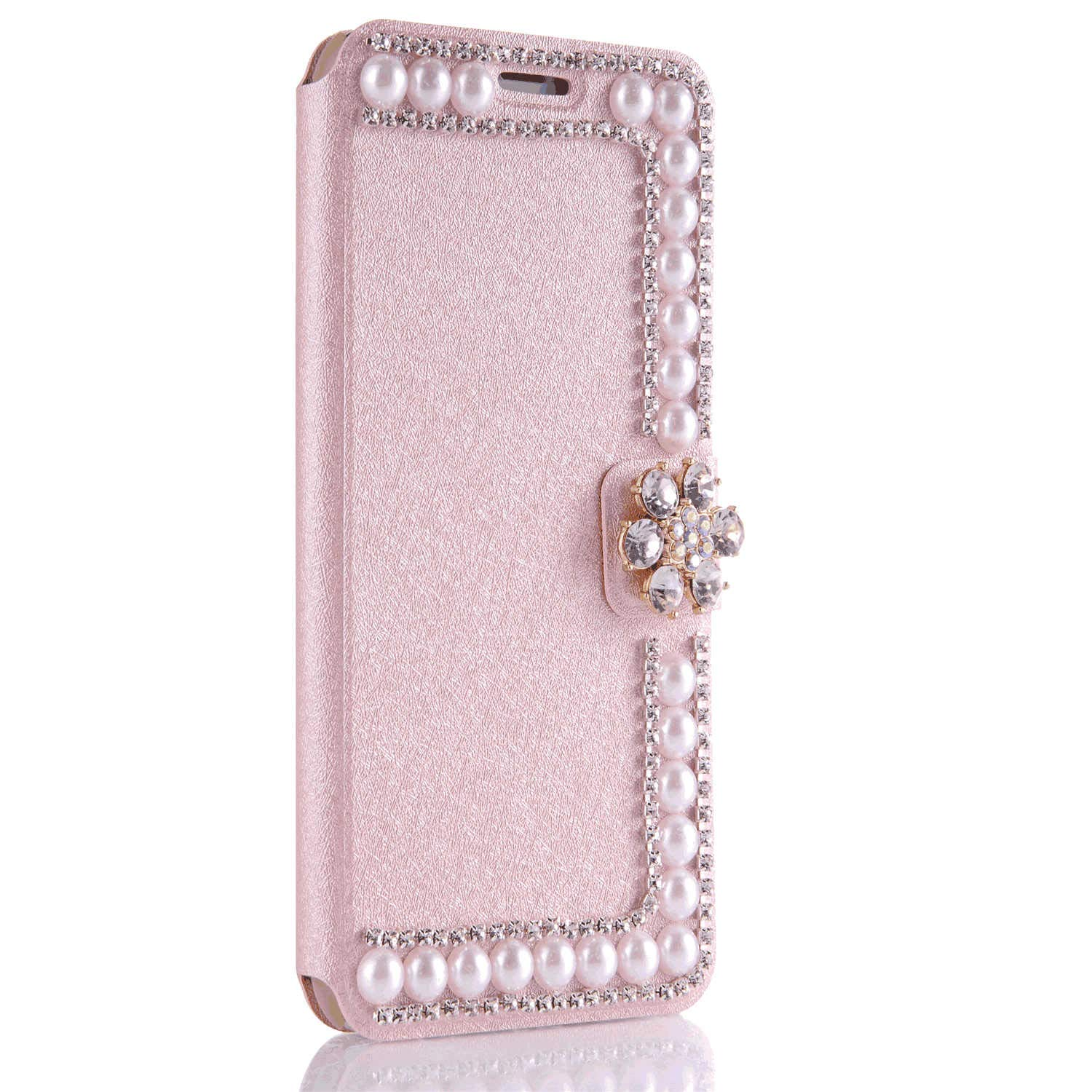 Leather Flip Case for Samsung Galaxy S10e Wallet Cover with Viewing Stand and Card Slots Bussiness Phone Case [with Free Waterproof Case]