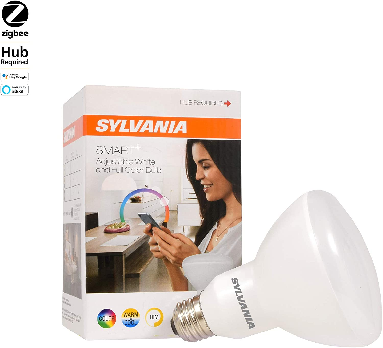 SYLVANIA General Lighting 73739 Sylvania Dimmable Led Lamp, 11 W, 120 V, Br30, Medium Screw E26, 20000 Hr, 1 Pack, Full Color