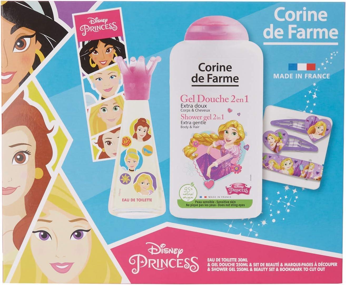 Corine de FARME Disney Princesas - Estuche de agua de colonia + gel de ducha + goodies 1 unidad: Amazon.es: Belleza