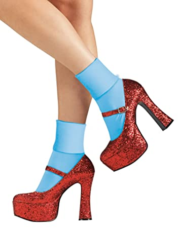 NEW Red Glitter Ruby Slippers Dorothy Wizard of Oz Costume Heels Shoes Adult