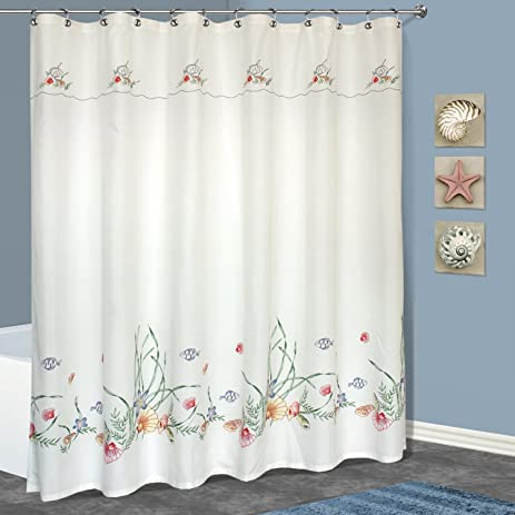 Amazon United Curtain Seashell Shower Curtain 70 by 72 Inch