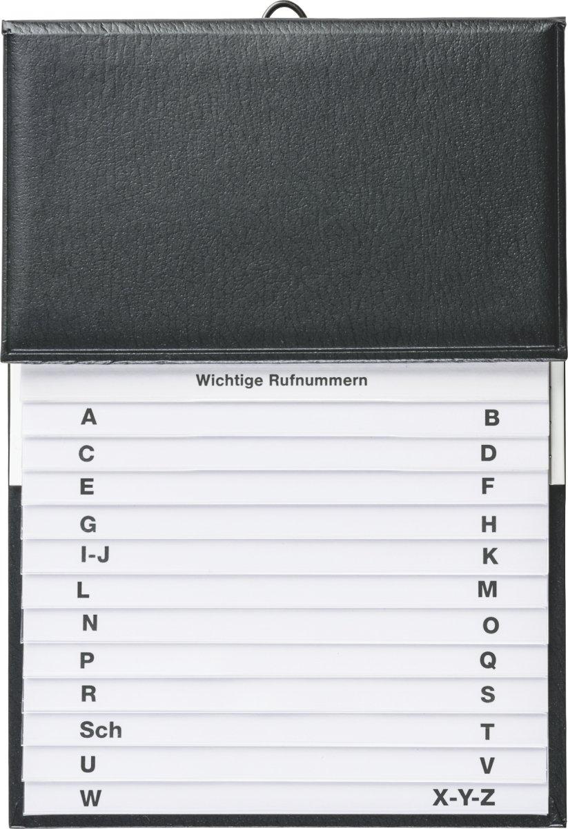 BRUNNEN 106433590 Telefonregister Schuppen (16 x 22 cm) schwarz Baier & Schneider
