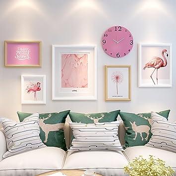 WUXK Das Wohnzimmer Minimalistischen Modernen Foto Wand Dekoration Schlafzimmer  Ideen Teenager Hintergrund Foto Wanduhr Bilderrahmen Wall