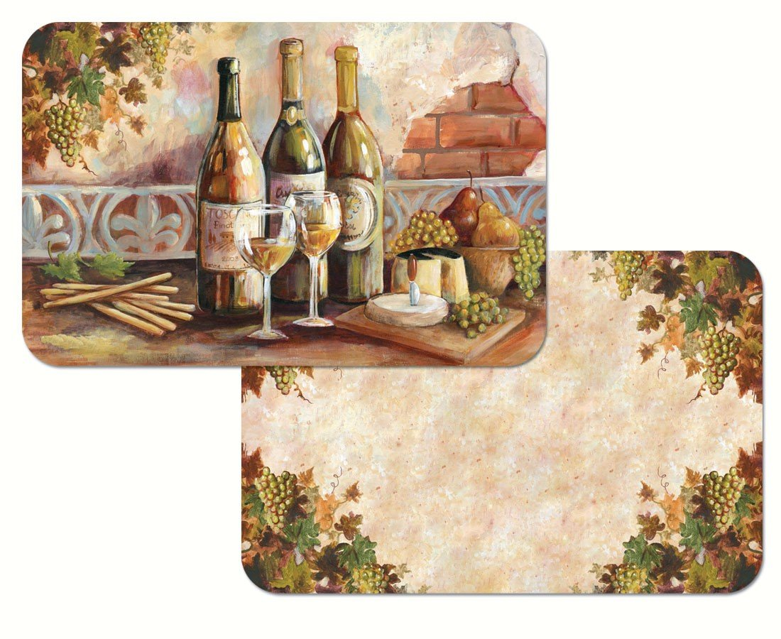 Counter Art CART40143 Tuscan Pinot Reversible Placemat