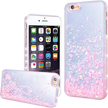WE LOVE CASE Funda iPhone 6 Rígida Liquido Glitter Cáscara ...