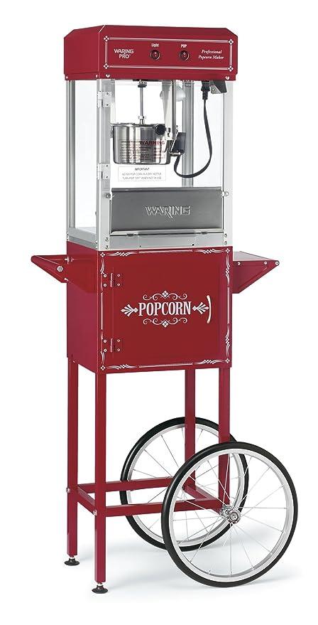 Waring wpm30tr carrito de palomitas de maíz eléctrica, color rojo: Amazon.es: Hogar