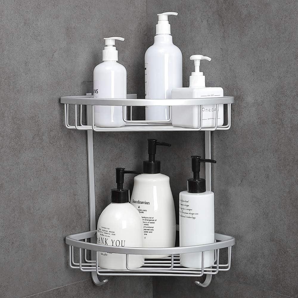 Gel Doccia 1 Organizer per Shampoo QLING Mensola da Bagno in Alluminio Opaco antiruggine Strato Singolo mensola da Doccia da Parete mensola da Appendere al Bagno