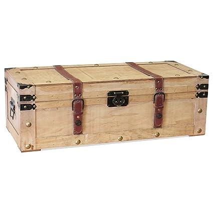 Elegante caja para guardar Beech Diseño - 70,5 x 31 x h23 ...