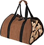 Tenn Well Waxed Canvas Log Carrier for Firewood, 38in x 18in