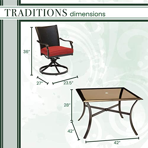 Hanover TRADDNWB5PCSWSQG-RED Traditions 5-Piece Red
