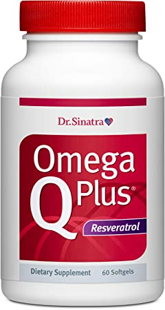 Dr. Sinatra's Omega Q Plus Resveratrol - Omega-3 Supplement with CoQ10 and Resveratrol - Promotes Comprehensive Heart and Whole Body Health to Help You Age Well (60 softgels)