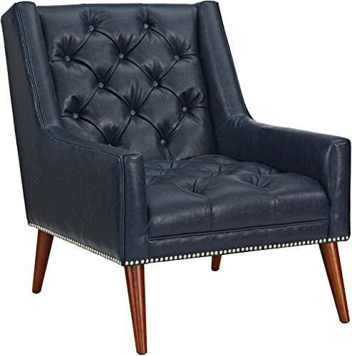 Modway EEI-2307-BLU Peruse Upholstered Fabric Modern Tufted Accent Arm Chair