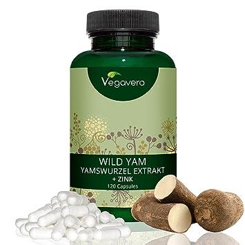 Wild Yam Ñame Salvaje + Zinc Vegavero® | SIN ADITIVOS | 6% de Diosgenina