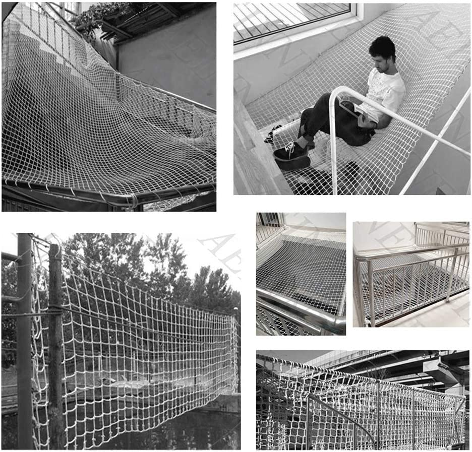 3 * 3ft Fence Nets Ceiling Decorative Nets Hammocks Mesh 10cm Child Safety Net Diameter 12mm Size : 1 * 1m Climbing Netting Anti-fall Stair Nets Hemp Net