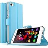 OUKITEL C5 / OUKITEL C5 Pro Custodia, KuGi Lussuosa PU Cover Custodia Protettiva Portafoglio da Mano per OUKITEL C5 / OUKITEL C5 Pro Smartphone (Blu)