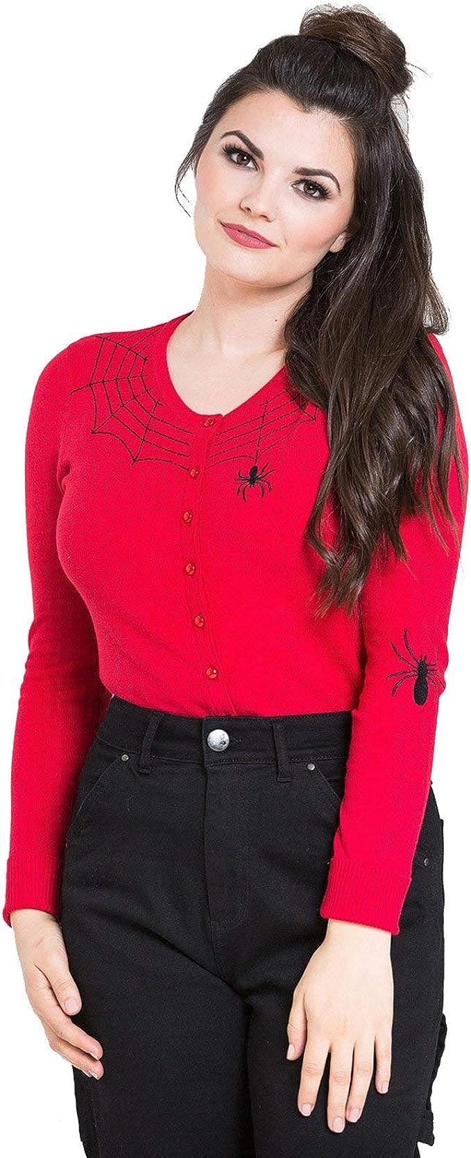 Hell Bunny Spider Web Miss Muffet Alternative Cardigan