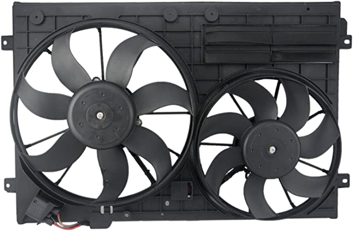 Orion Motor Tech VW3117106 OEM Engine Radiator Cooling Fan Assembly Low Noise for Audi Volkswagen