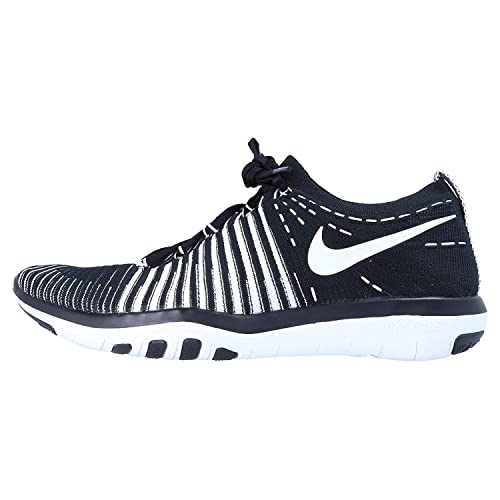 Nike Free Transform Flyknit Fitness Women's Shoes Size 7 BlackWhite