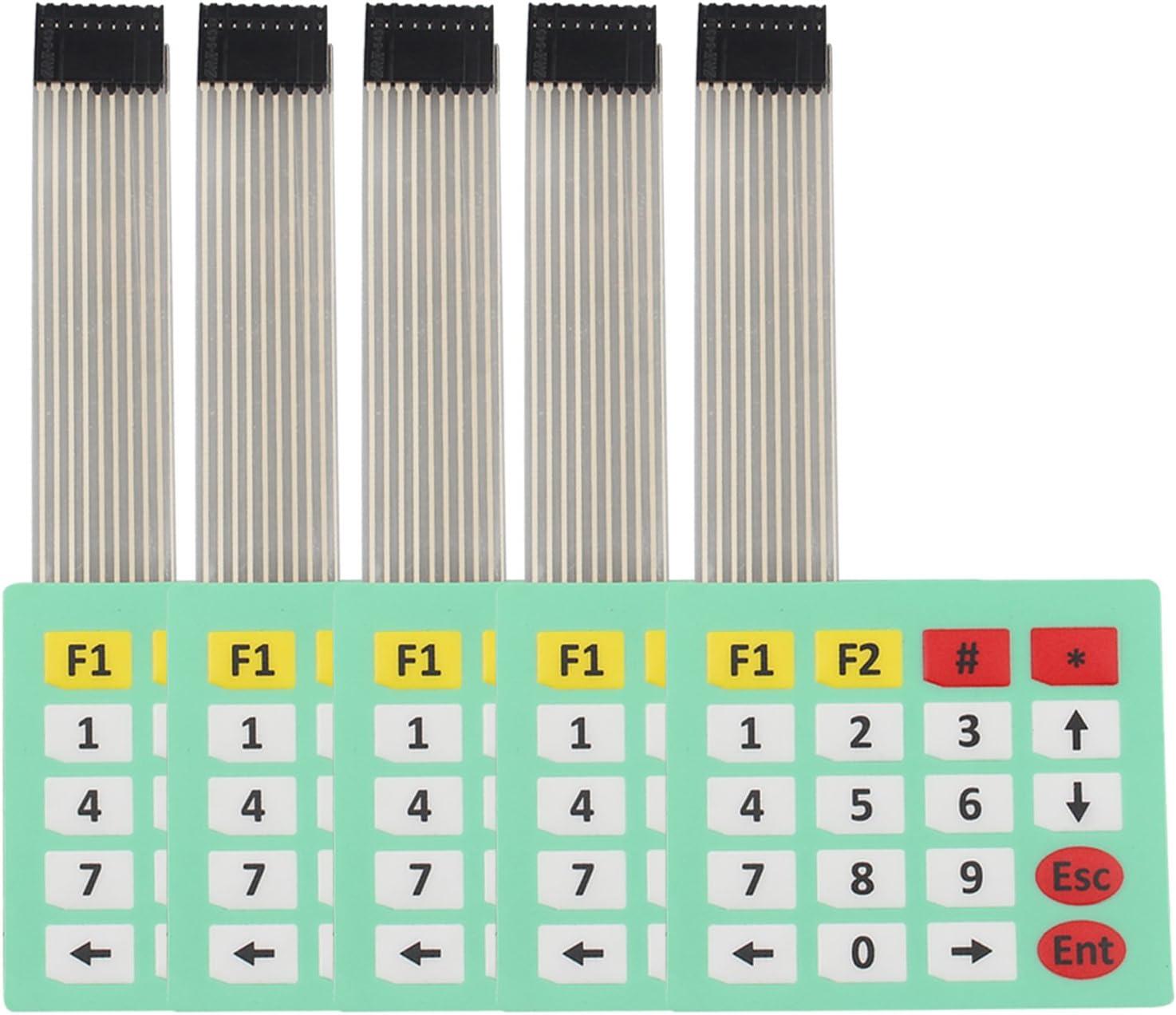 HALJIA 5 pcs 4 x 5 Matrix Array clavier clavier 20 Key Membrane commutateur Compatible avec Arduino