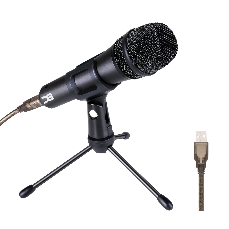4b5d63c054708 BC Master Micrófono USB Dinámico Cardioide Profesional Metálico de  Grabación con Trípode