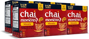 Tea India Chai Moments Instant Masala Tea, 10 Count (Pack of 6)