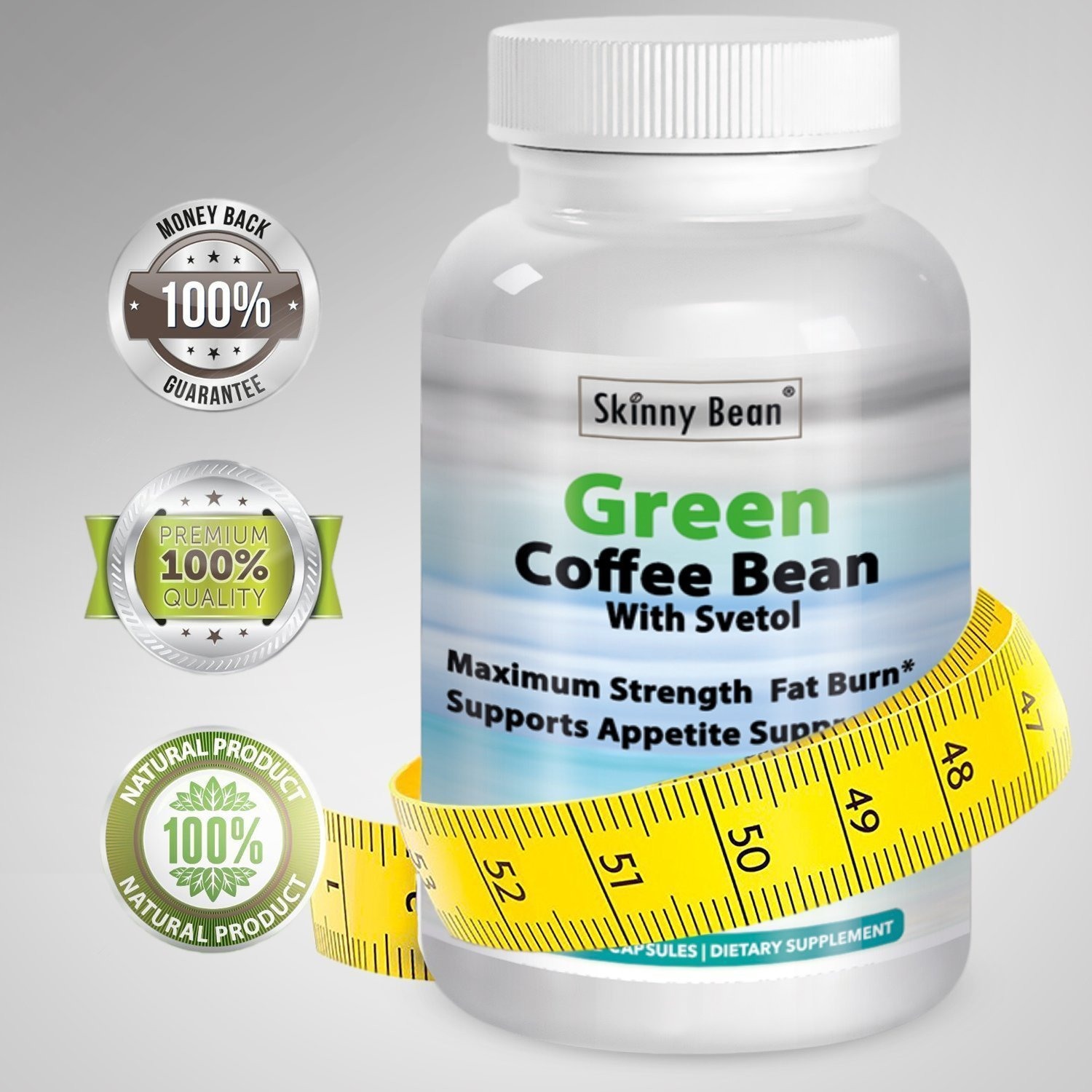 ••• POTENT PREMIUM ••• Green Coffee Bean With Svetol Extract - Fat Burner by Skinny Bean