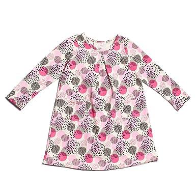 1cfed25a5 Winter Water Factory Long Sleeve Organic Aspen Baby Girls Dress (2T, Modern  Dots)