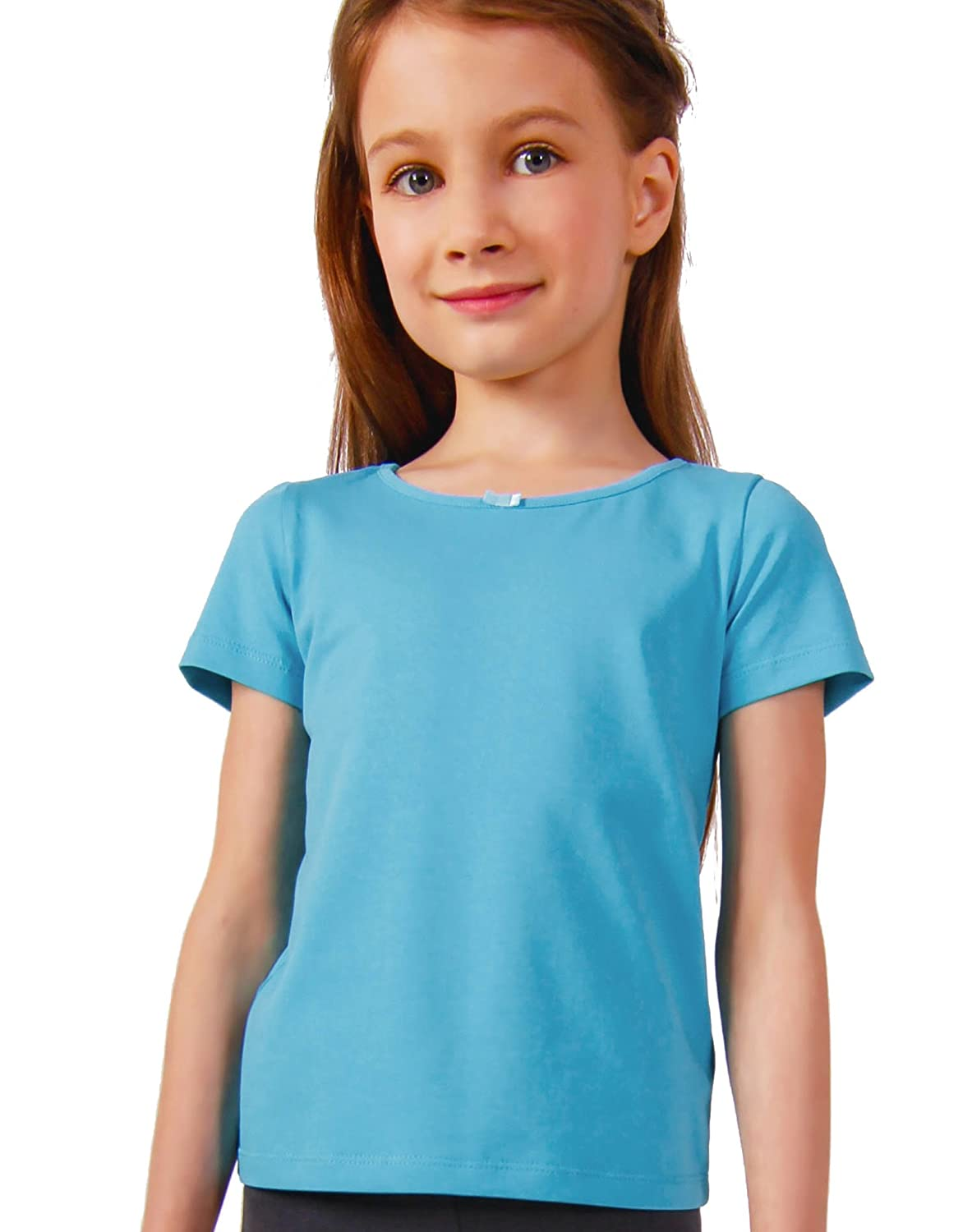 Petite Amelia Little Girls Short Sleeve Bow Top 10630-2L
