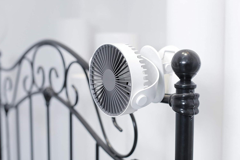 pour serre ventilateur portable avec minuterie maison bureau et table Moonday mini ventilateur /à pince 3 vitesses bleu marine ultra silencieux petit ventilateur /à clip oscillant