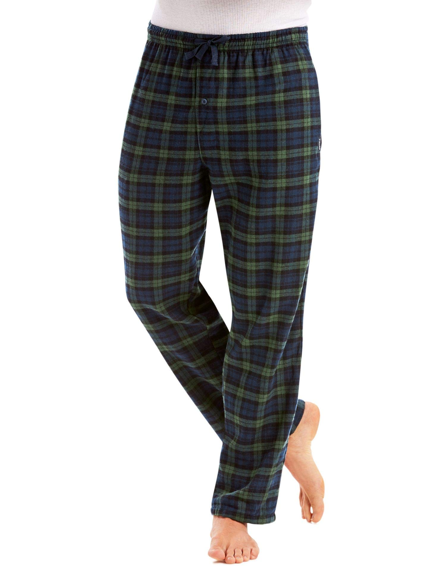 Hanes Men`s Flannel Pants with Comfort Flex Waistband, 02006/02006X, L