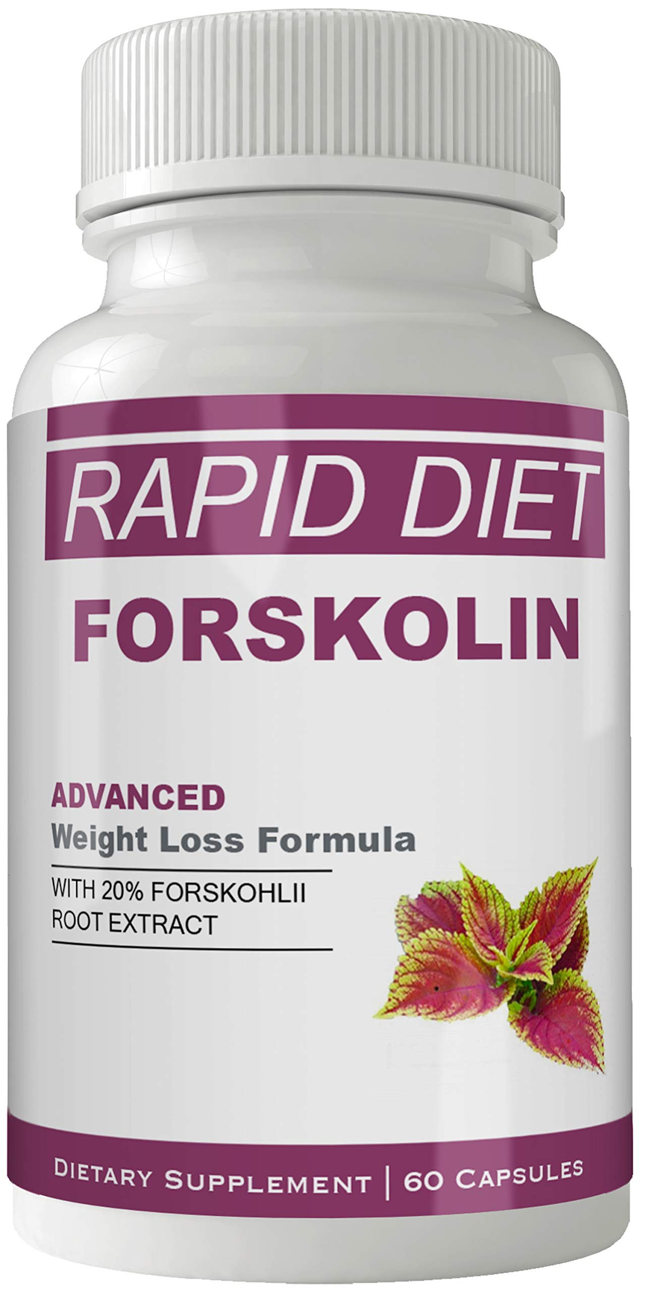 Rapid Diet Supplement for Weight Loss Capsules with Natural High Quality Pure Forskolin Extract Diet Pills by nutra4health LLC
