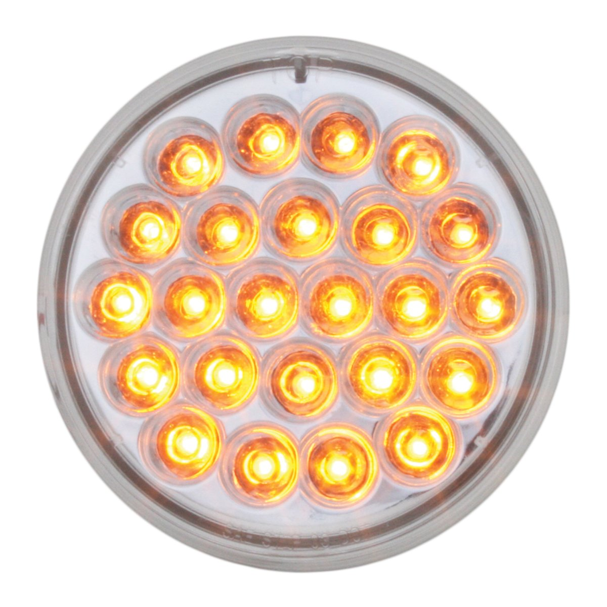 Grand General 78273BP Red 4' Round Pearl 24-LED Stop/Turn/Tail Sealed Light