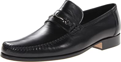 Bruno Magli Mens Enaudinh Black Smooth - Loafers