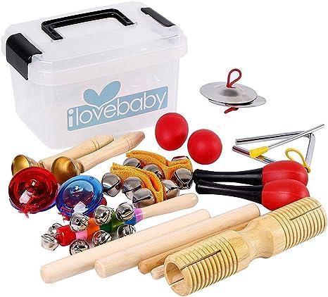 Juego de 10 instrumentos musicales para niños, percusión de ritmo ...
