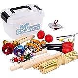 Kids Musical Instruments,Tambourine Set-10 PCS-Rhythm Percussion Set with Storage Box Musical Toys