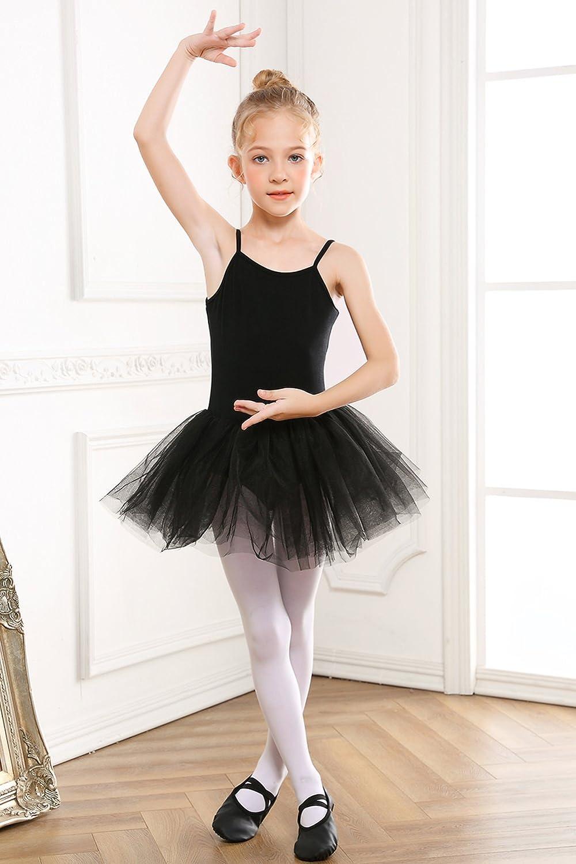 812a54e3b STELLE Girls Cotton Camisole Dress Leotard for Dance
