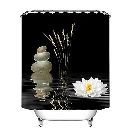 metal curtain black Asian hooks shower