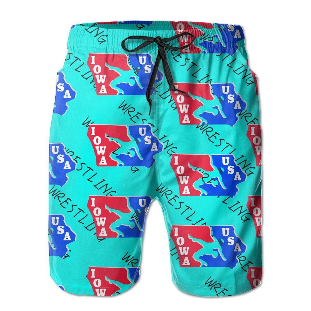Oct USA Wrestling Logo With Liner Mens Boardshorts Swim Trunks Tropical Workout Board Shorts Boardies Swim by Oct