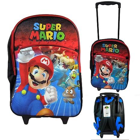 """16 """"gran Nintendo Super Mario Bros escuela Rolling Mochila libro bolsa ..."""