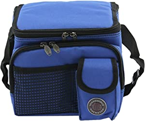 "Transworld Durable Deluxe Insulated Lunch Cooler Bag (Many Colors and Size Available) (9"" x 7"" x 8"", Royal Blue)"