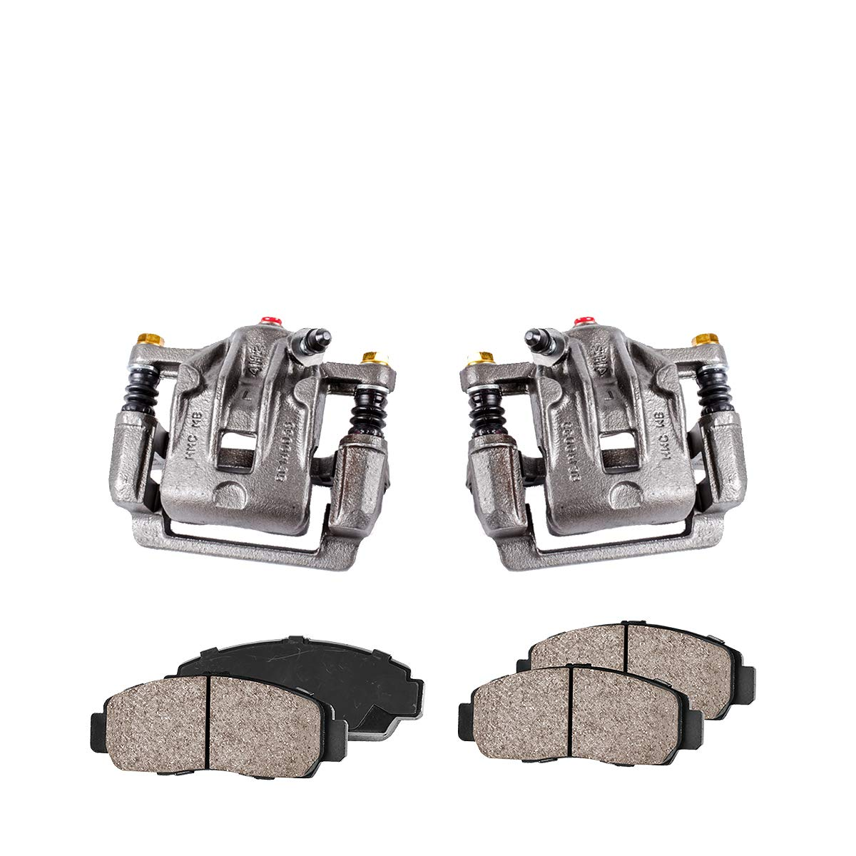 Callahan CCK04138 [2] REAR Premium Loaded Original Caliper Pair + Ceramic Brake Pads + Hardware Kit Callahan Brake Parts